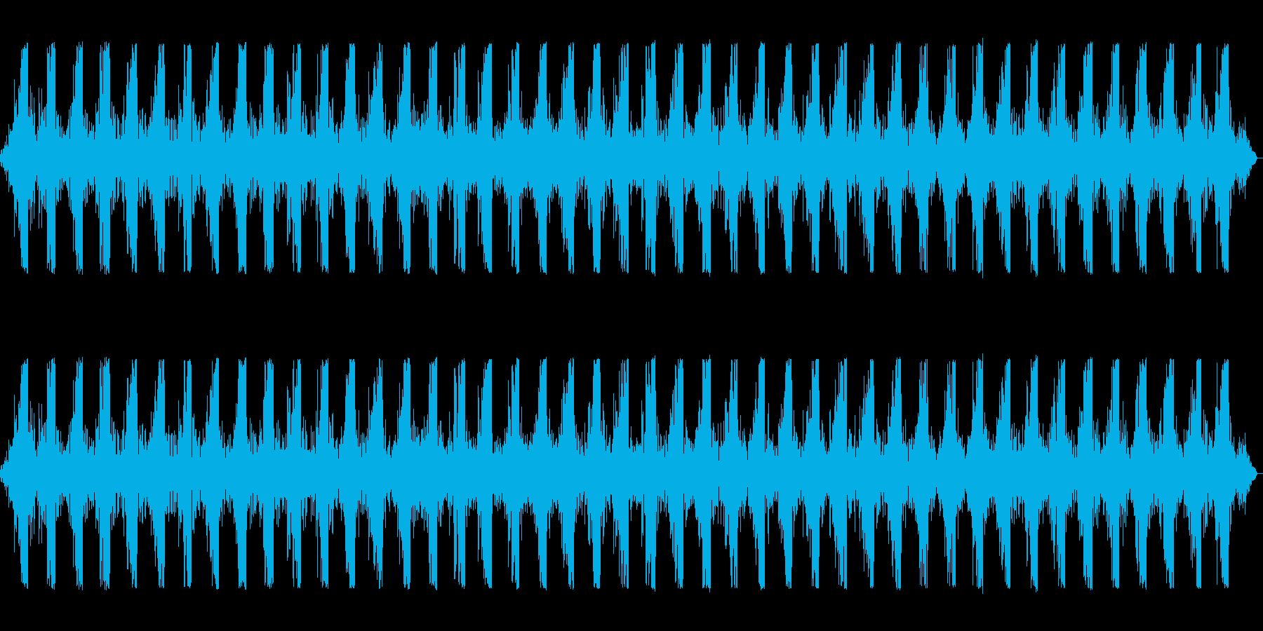 ヘリコプターの飛行音です。の再生済みの波形
