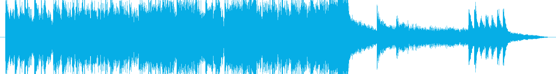楽器いろいろサウンドロゴの再生済みの波形