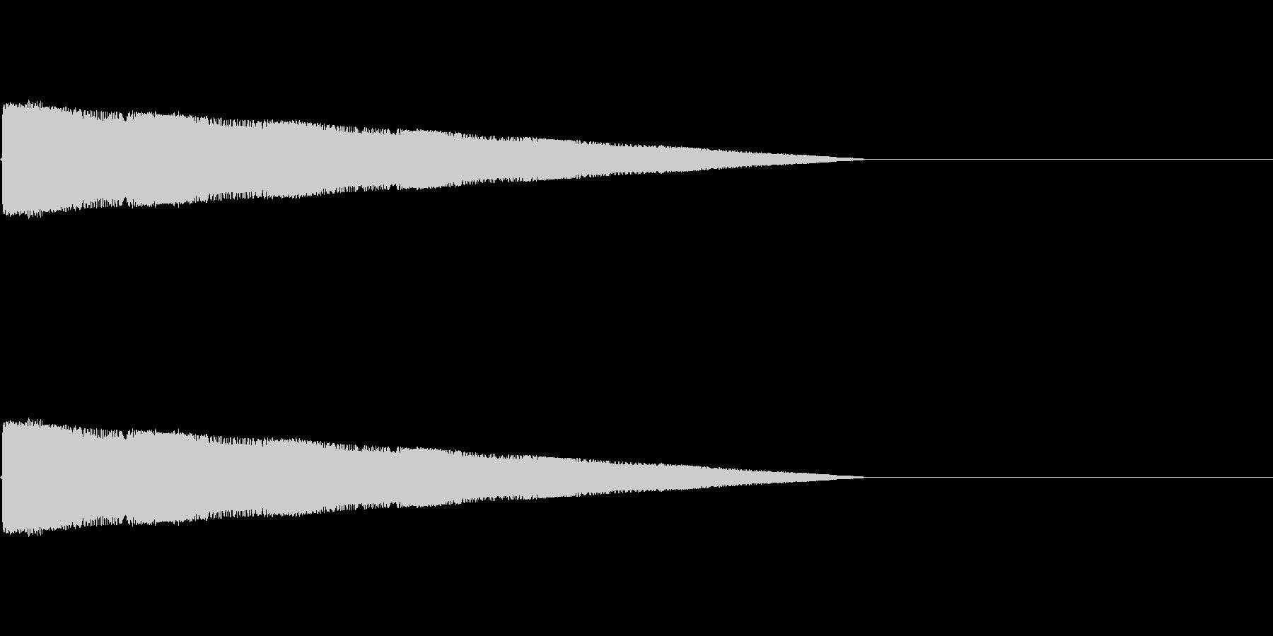 レトロゲーム風レーザーショット1の未再生の波形