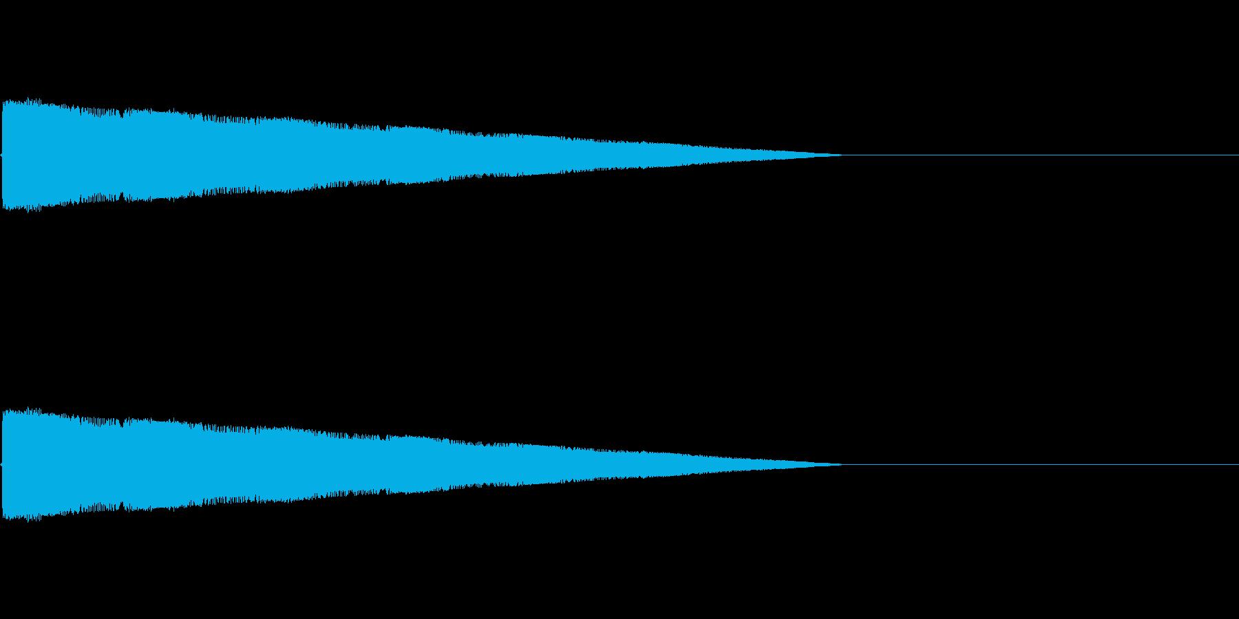 レトロゲーム風レーザーショット1の再生済みの波形