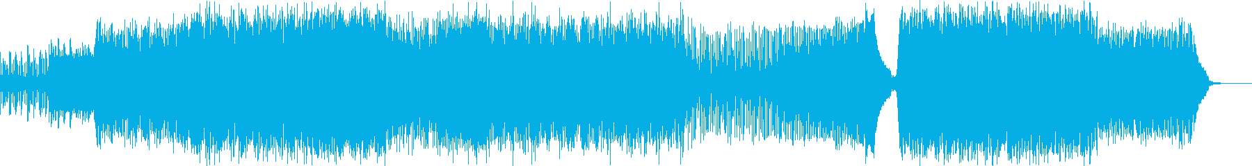 ダークな雰囲気の激しいビッグビートの再生済みの波形