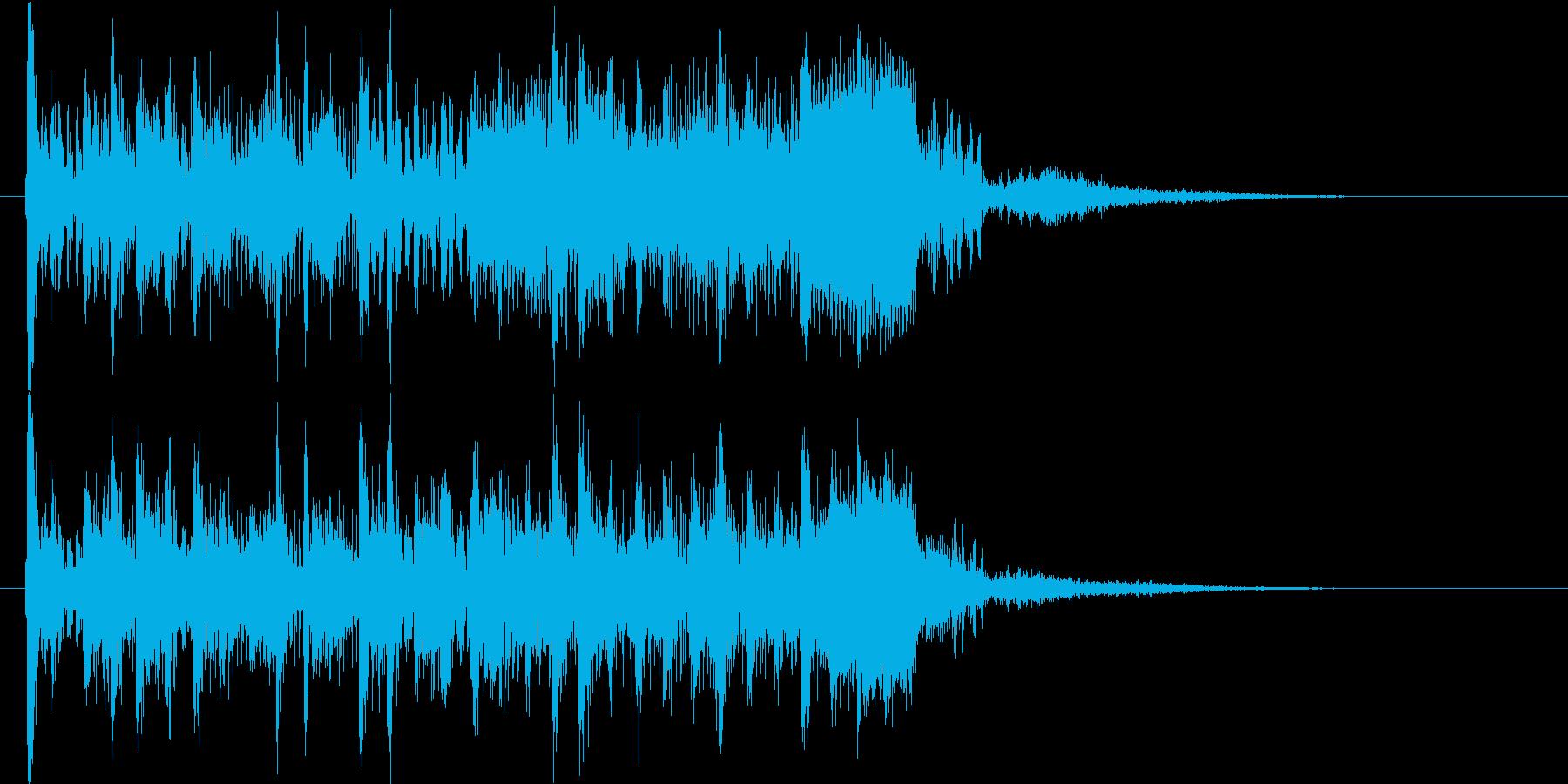 スピード&パワフルな未来的デジタルロゴの再生済みの波形