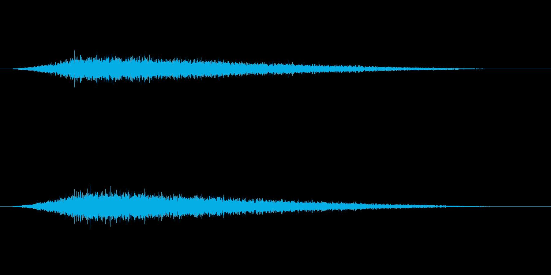シュー(タイトルメニューから各項目)の再生済みの波形