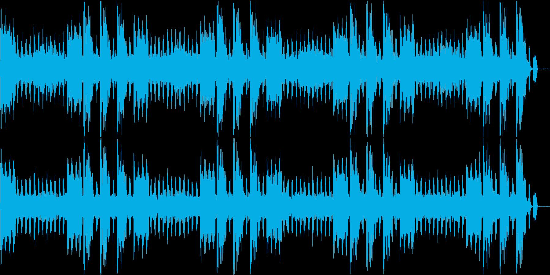 不気味なノイズ曲の再生済みの波形