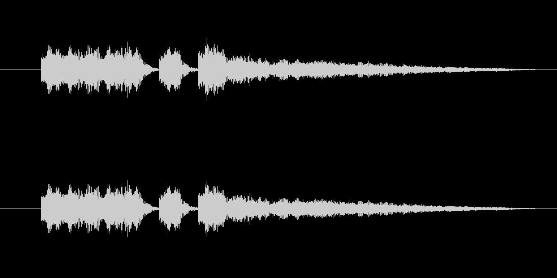 中国イメージの短いBGMの未再生の波形