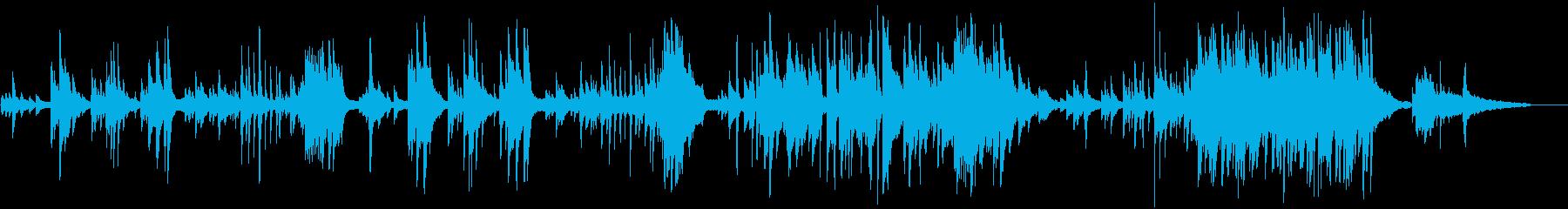 感傷的で切ないシーンのピアノ曲の再生済みの波形