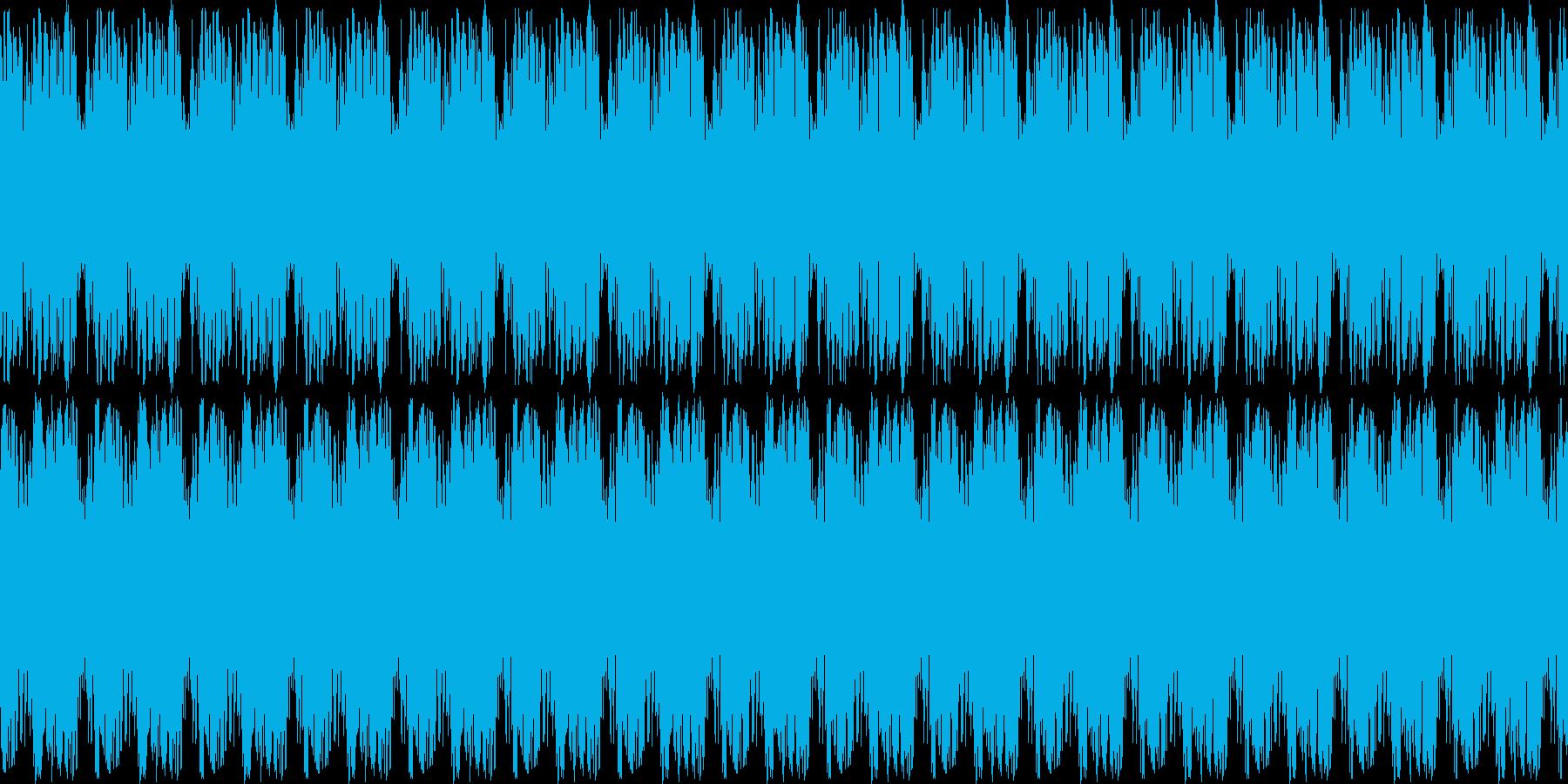 奇妙なシンセ音の再生済みの波形
