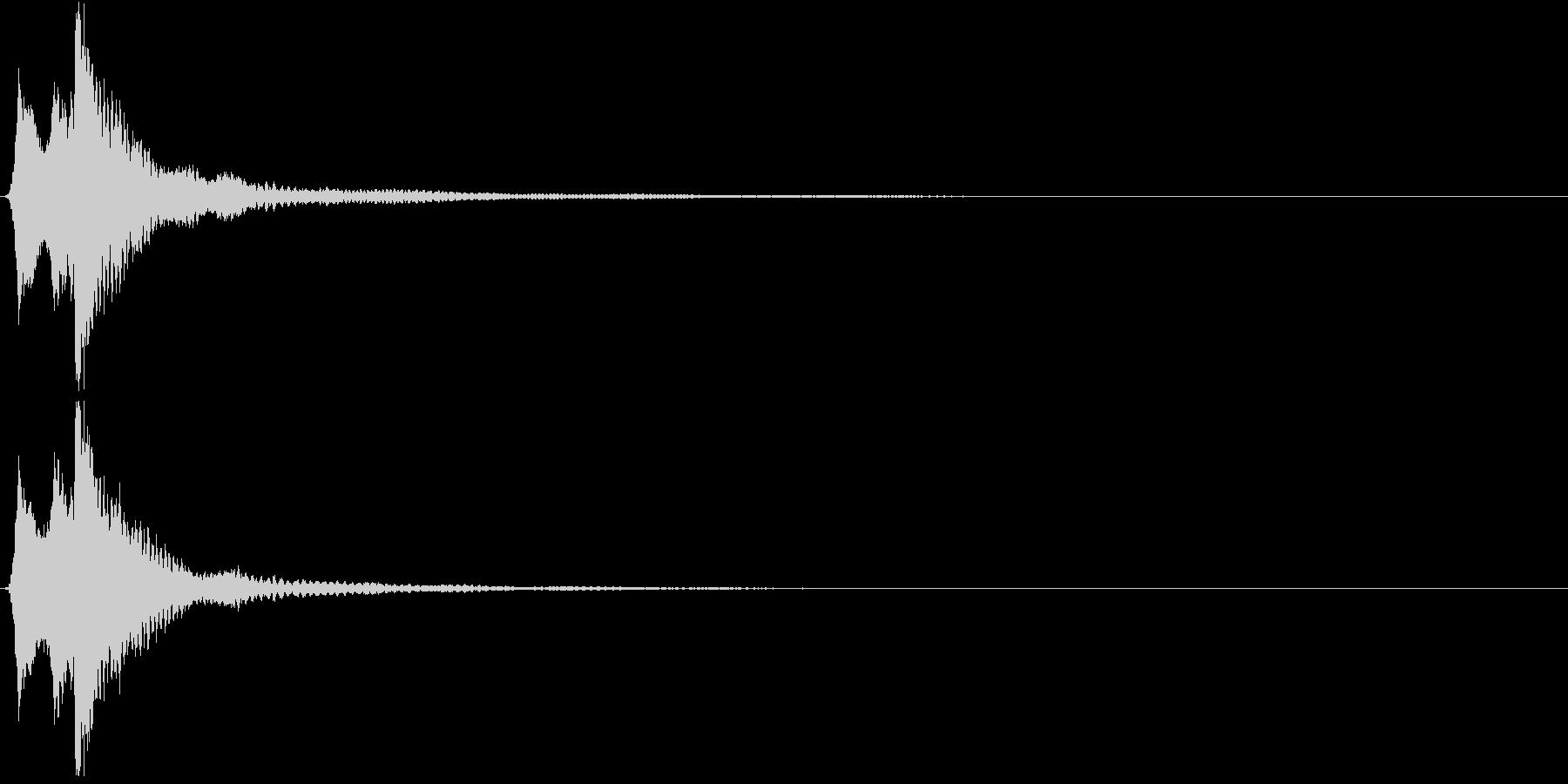 キラン。きらめく・テロップ音(高め)の未再生の波形
