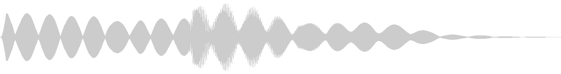 救急車のサイレンの未再生の波形