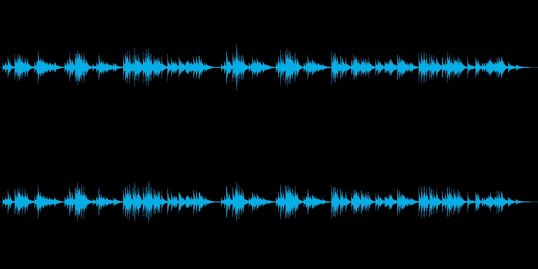 アイルランド民謡的な中世ハープの音色の再生済みの波形
