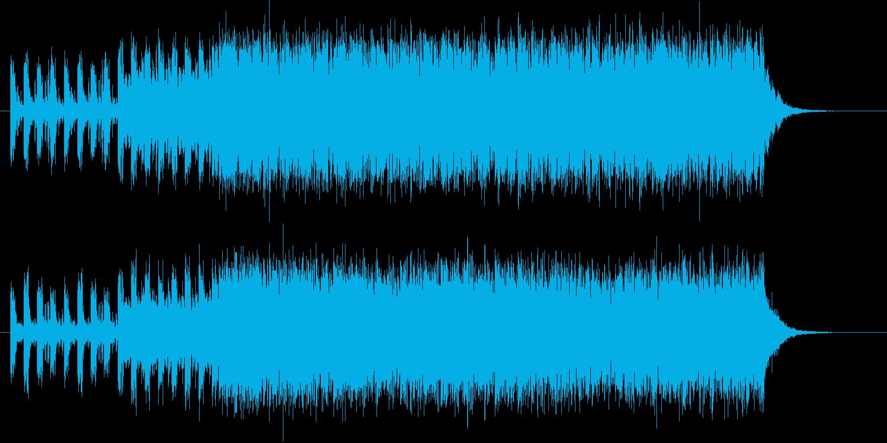 アップテンポなシンセサイザーの再生済みの波形