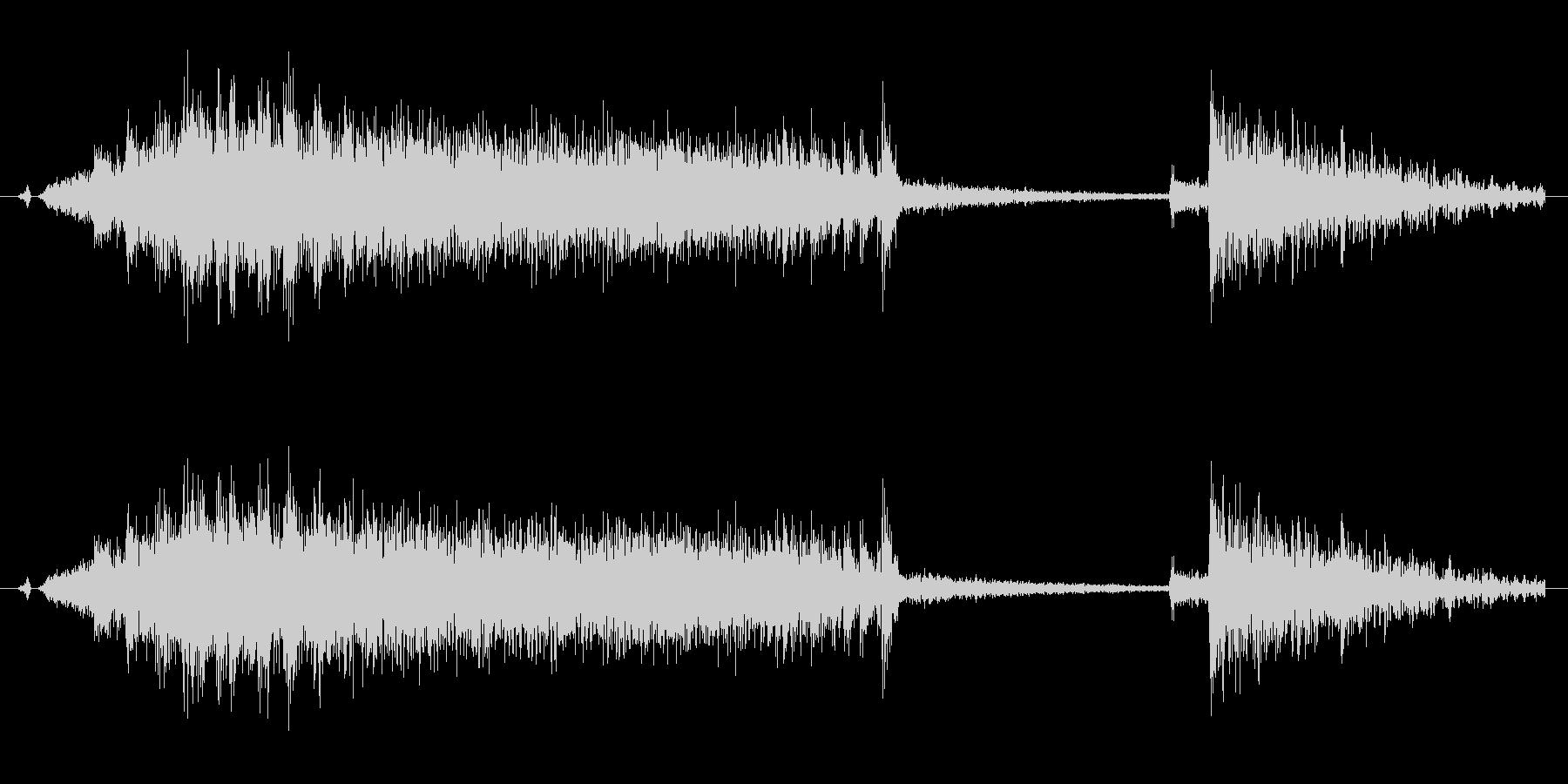 ギィー バタンの未再生の波形