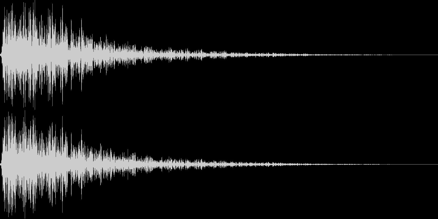 ビュンッ(金属系効果音)の未再生の波形