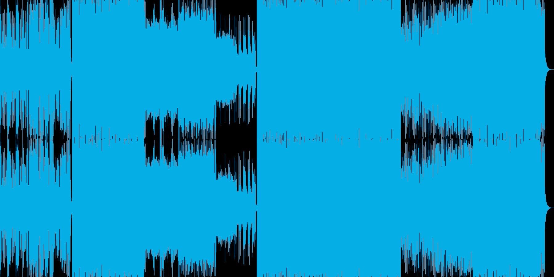 シンセリードが響くトランスの再生済みの波形