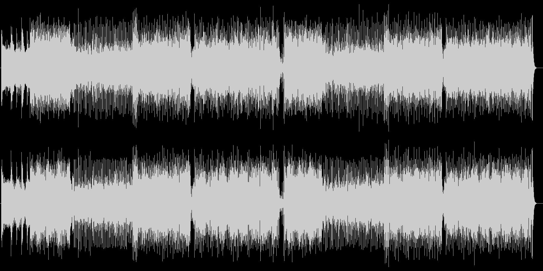不協和音が楽しいエレクトリックサウンドの未再生の波形