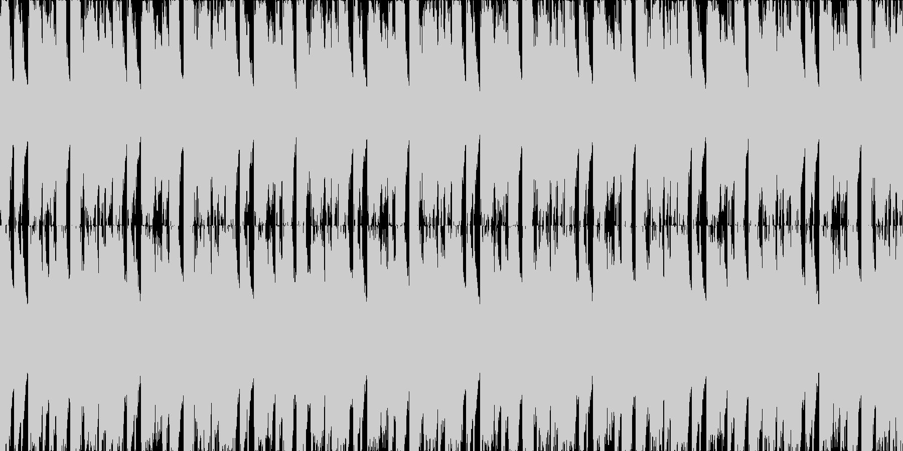 パワフル疾走感あるクセになるループ素材の未再生の波形