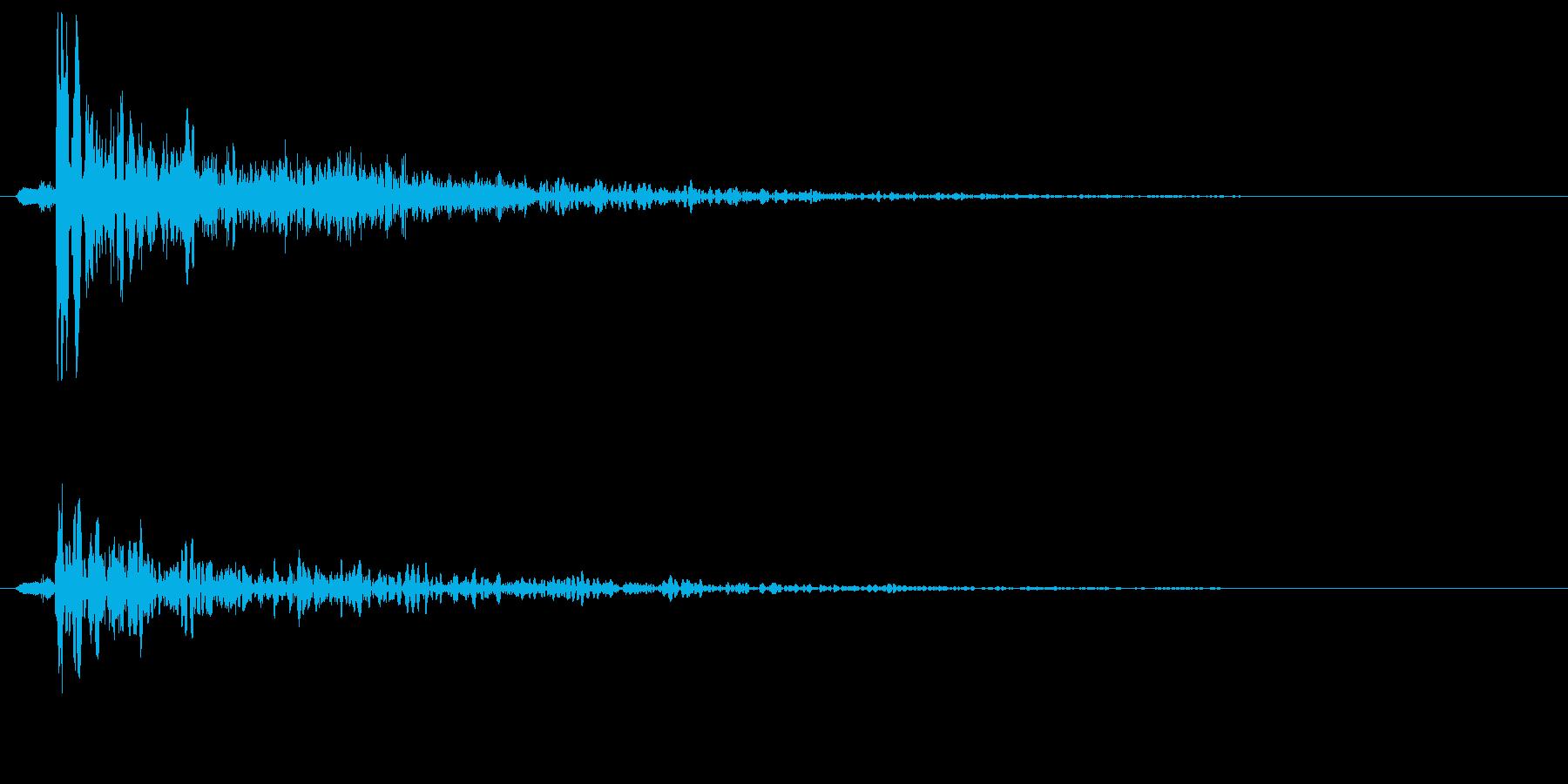 ボォン(未来武器の攻撃時の狙撃音)の再生済みの波形