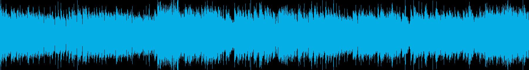 ループ用軽快ポップゲームBGM系インストの再生済みの波形