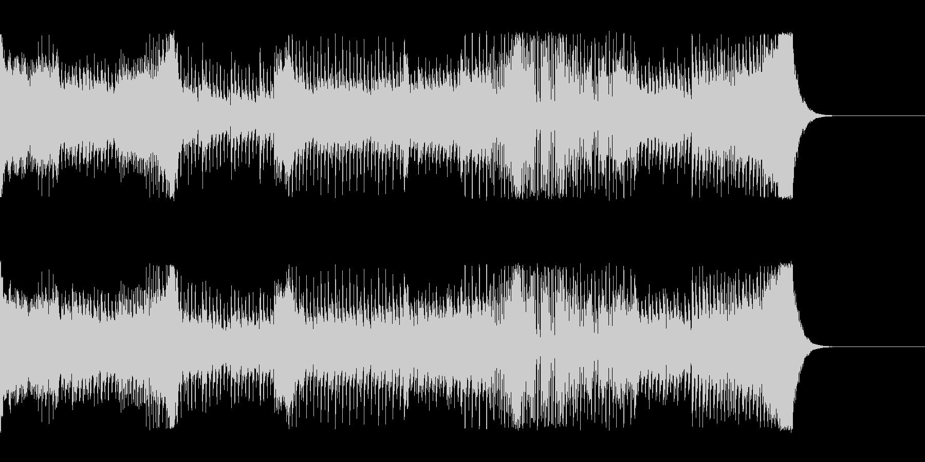 疾走感あるダンスミュージックの未再生の波形