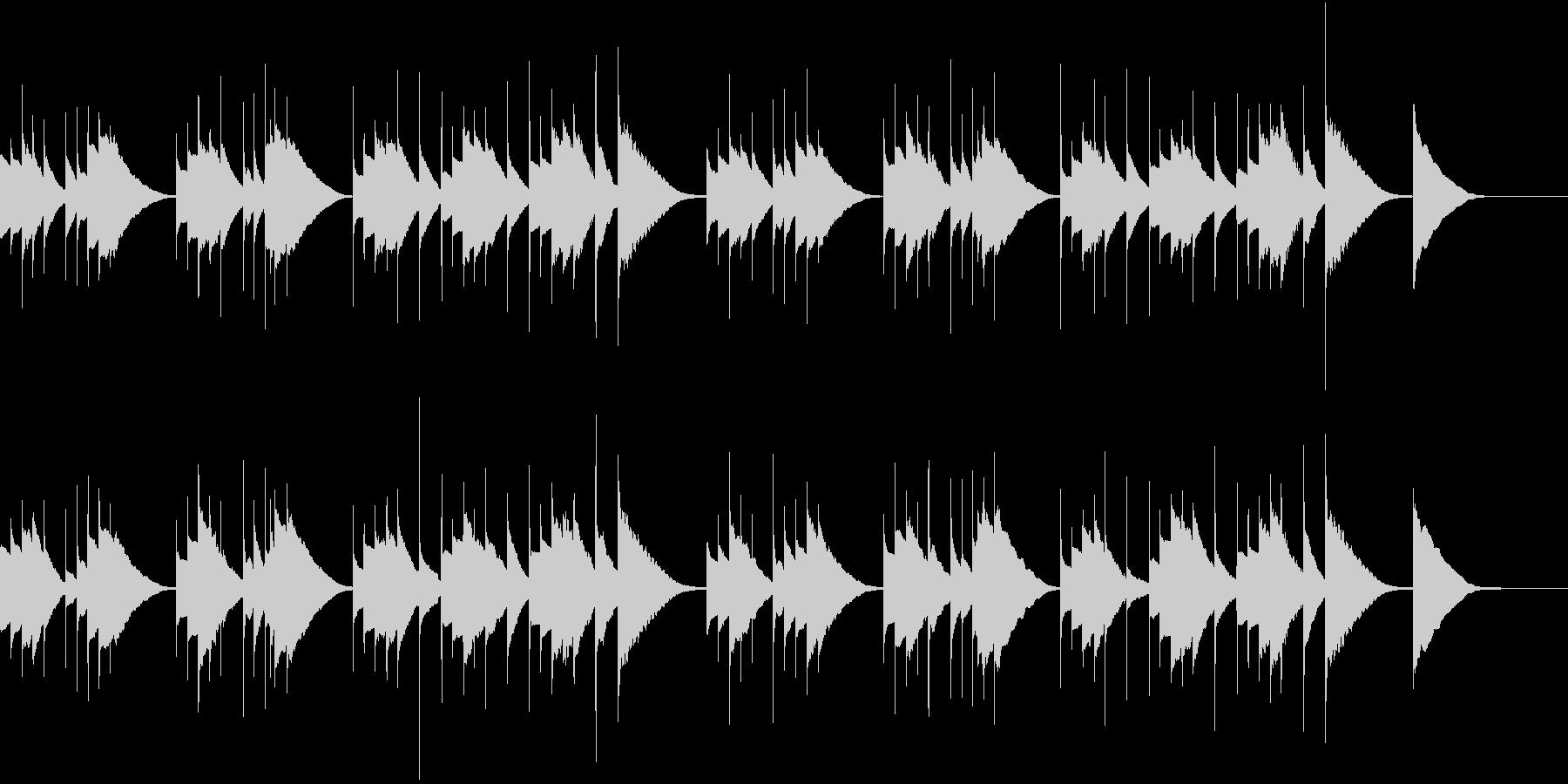 オルゴールを使ったとても悲しい雰囲気の曲の未再生の波形
