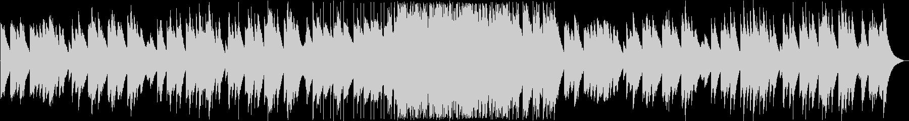 静かで幻想的な鉄琴(ベル)の曲の未再生の波形
