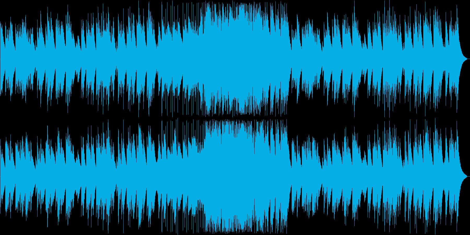 静かで幻想的な鉄琴(ベル)の曲の再生済みの波形