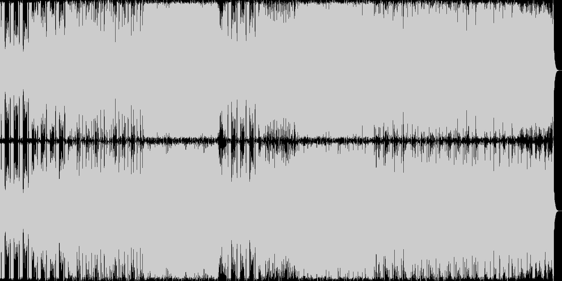 険しい山を演出したギター系の曲<終わり…の未再生の波形