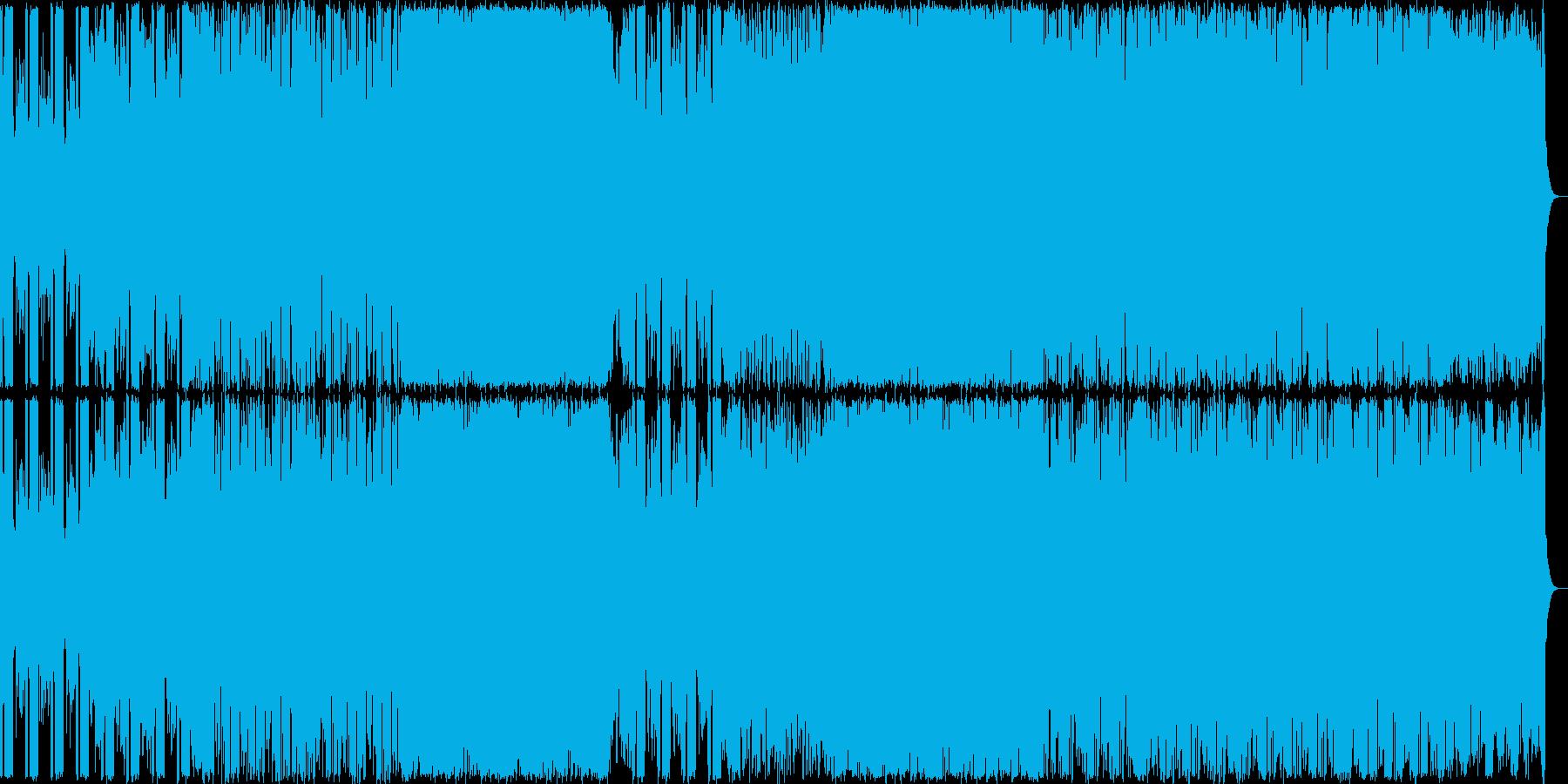 険しい山を演出したギター系の曲<終わり…の再生済みの波形