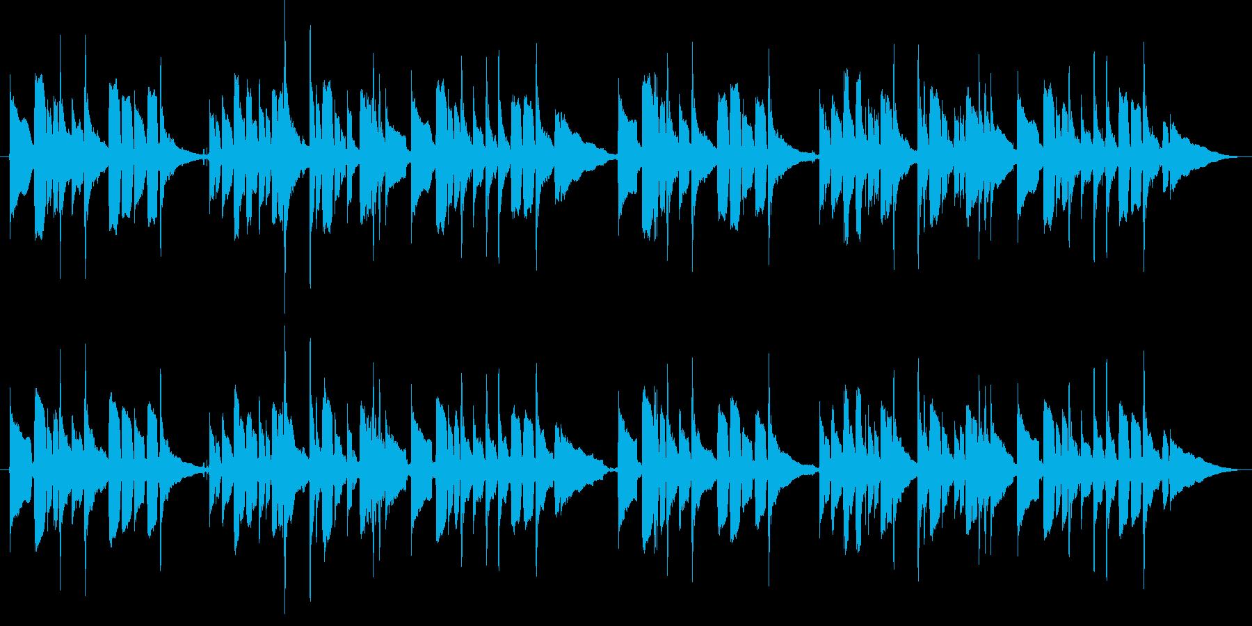 「お正月」 アコースティックギター演奏の再生済みの波形