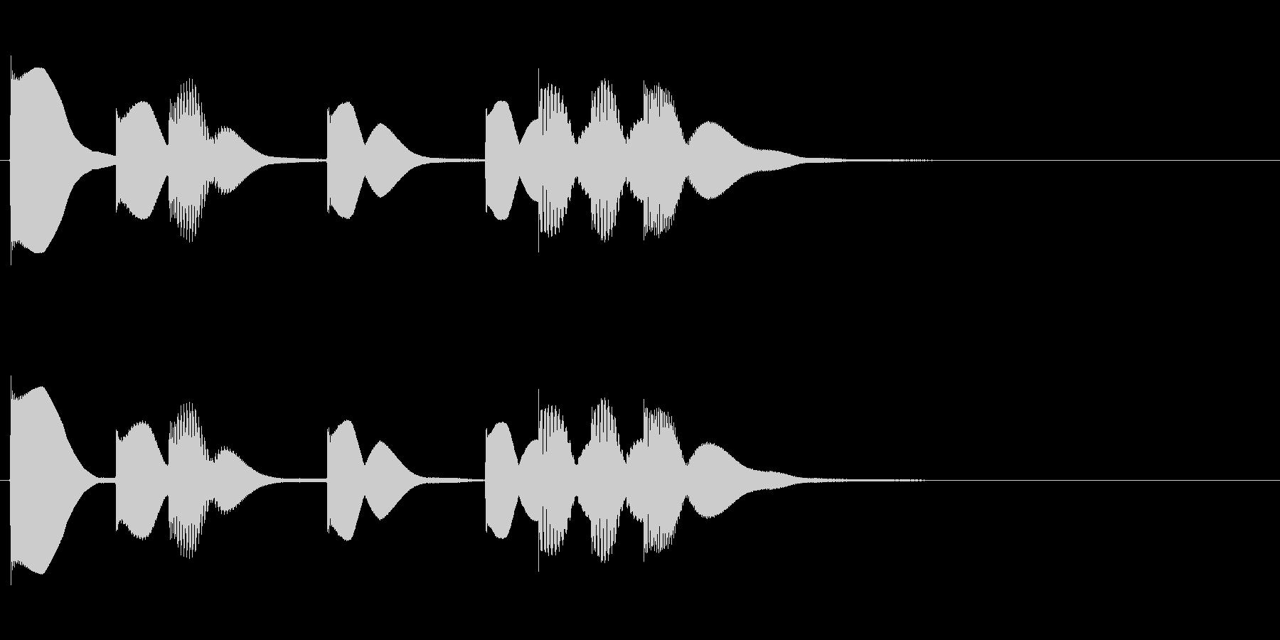 ほのぼのSEの未再生の波形