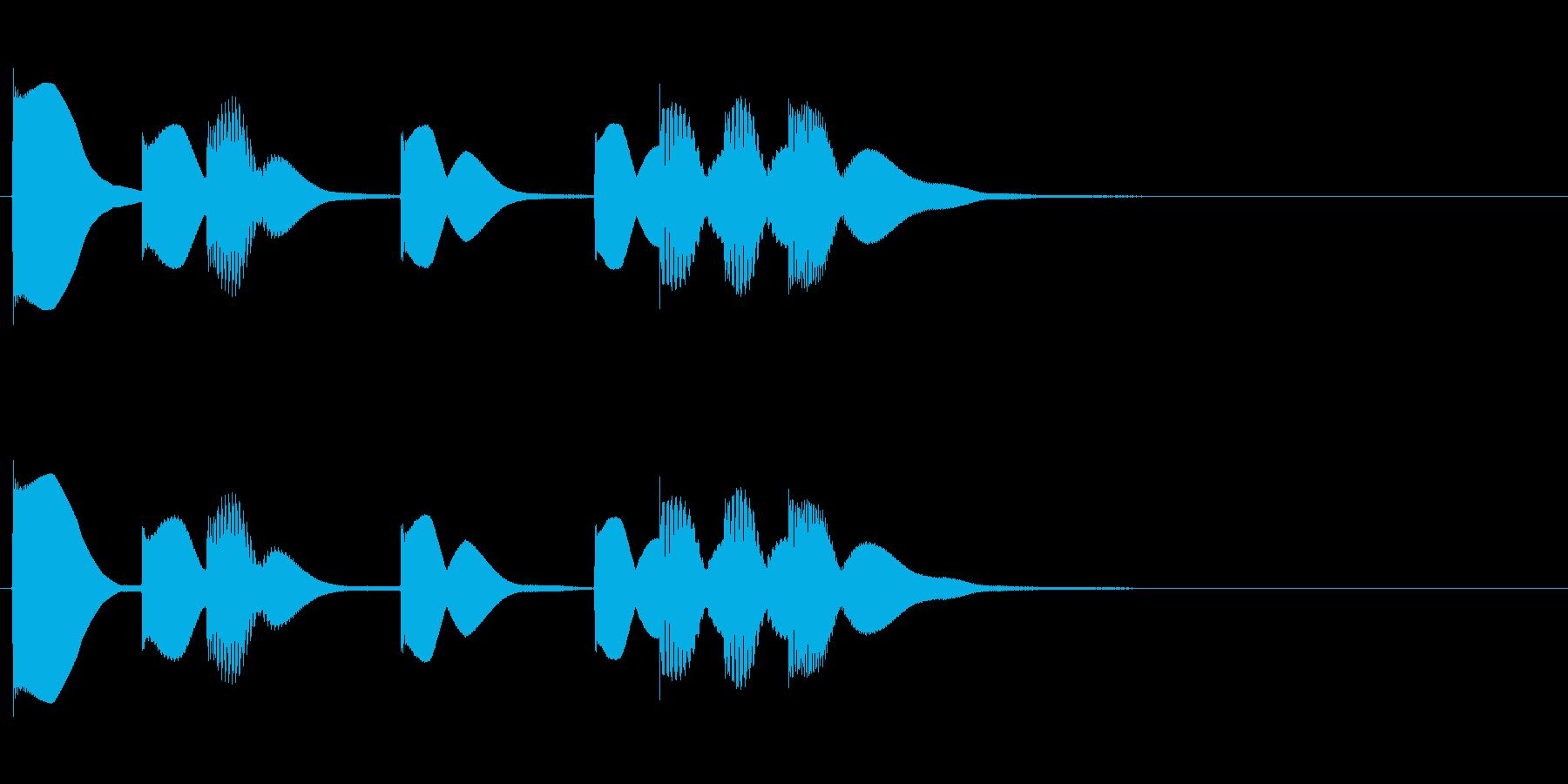 ほのぼのSEの再生済みの波形
