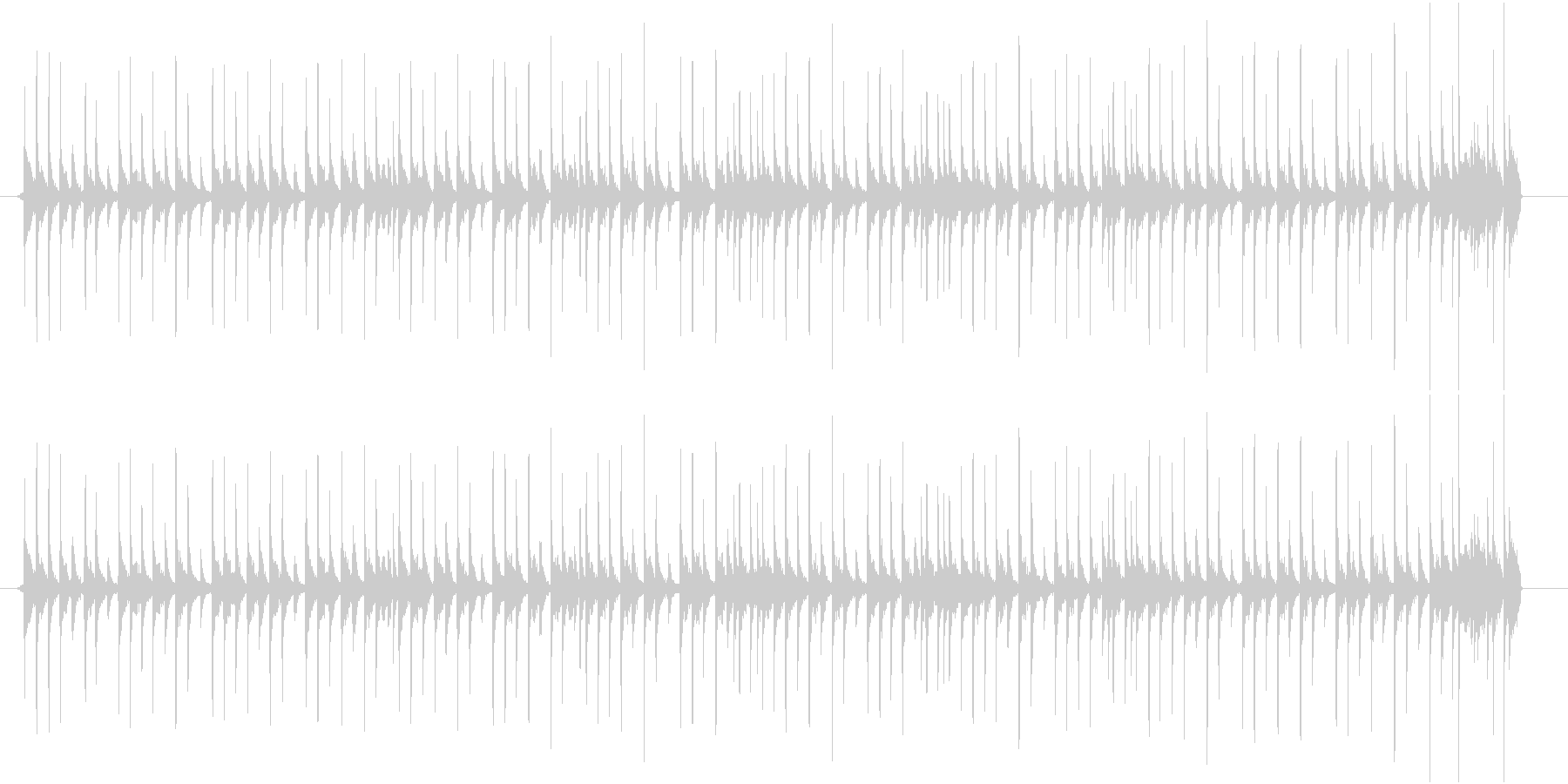 Lo-Fi drumloopドラムループの未再生の波形