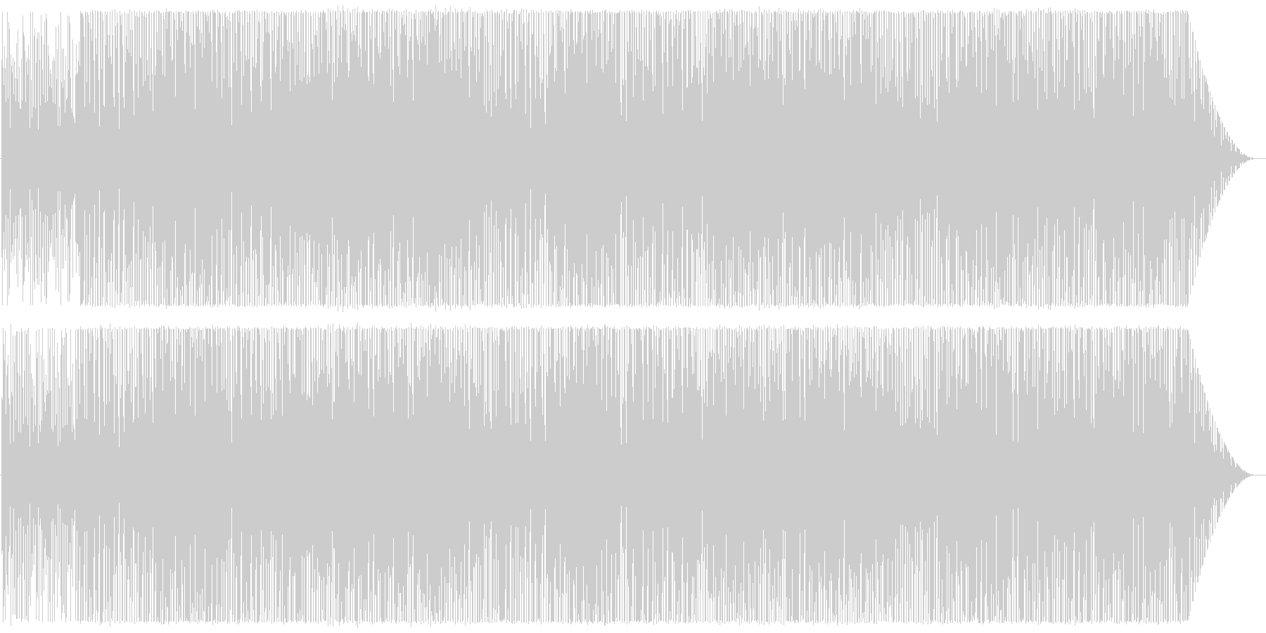 Deep House系インスト曲2の未再生の波形