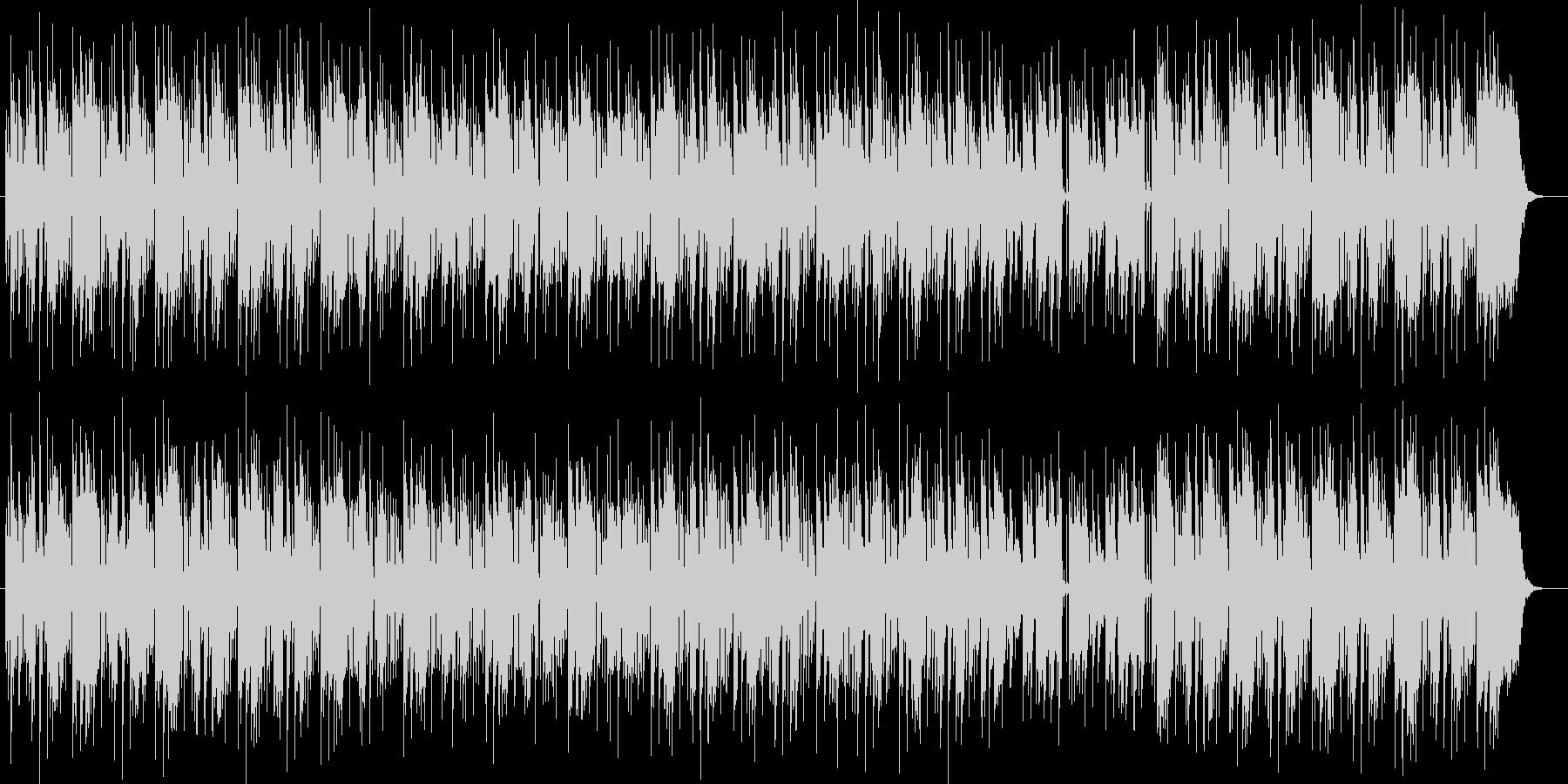 明るい綺麗なメロディーのピアノの曲の未再生の波形