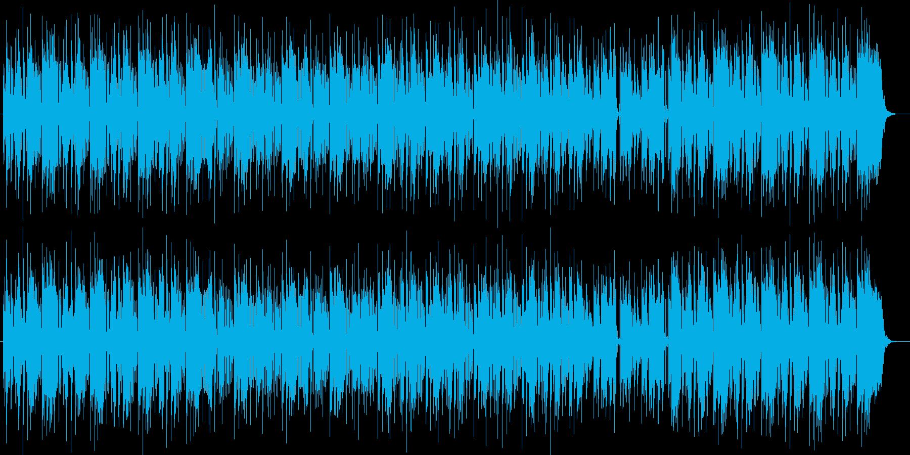 明るい綺麗なメロディーのピアノの曲の再生済みの波形