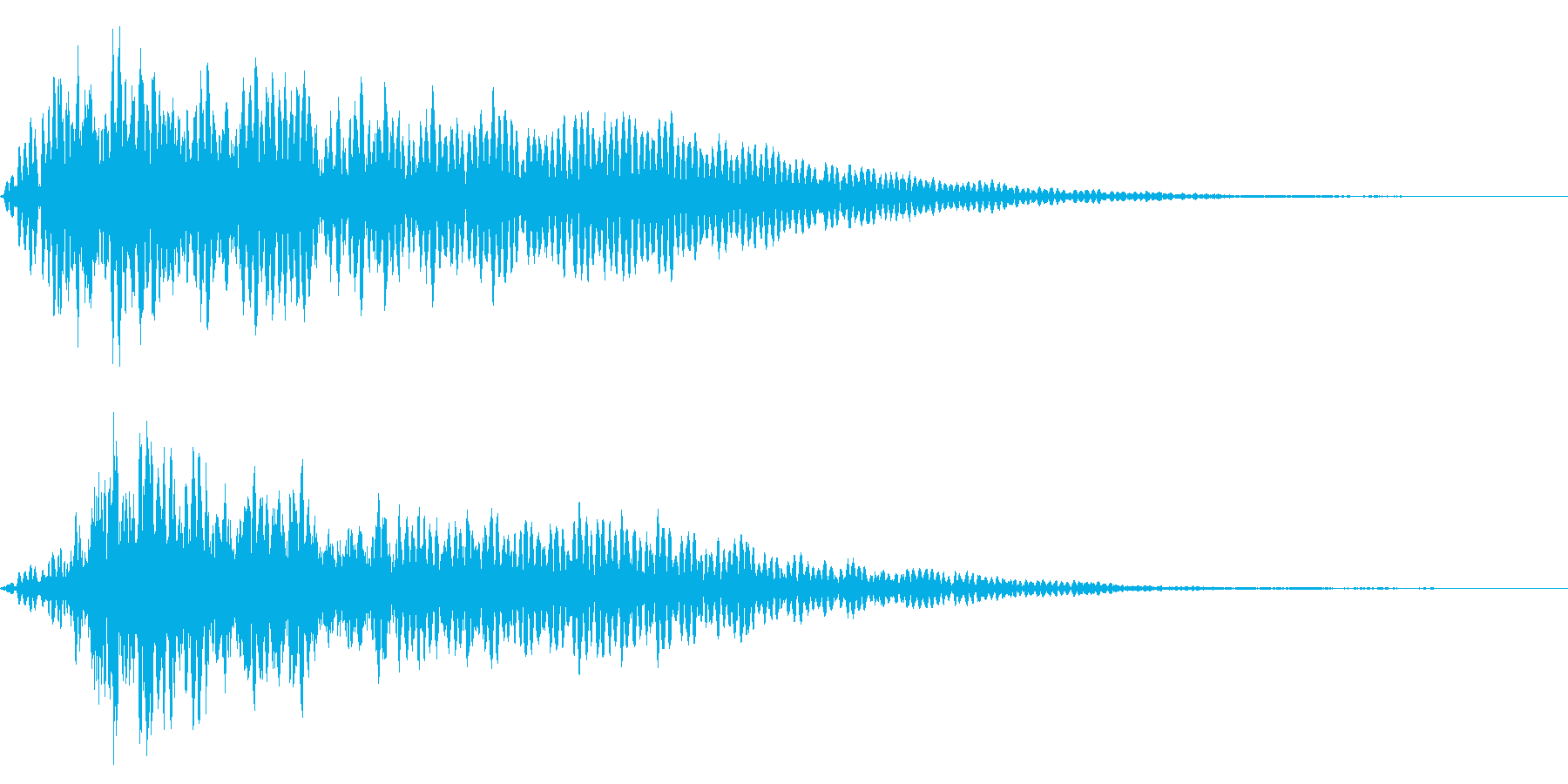 ホラー系アタック音62の再生済みの波形