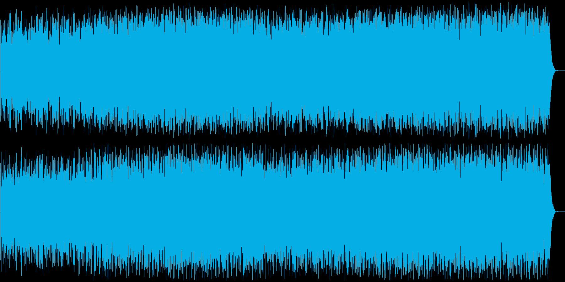 80年代のインストルメンタルロックの再生済みの波形