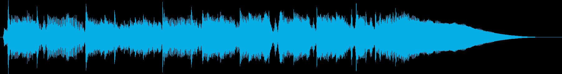 ジングル 軽やかなピアノの再生済みの波形
