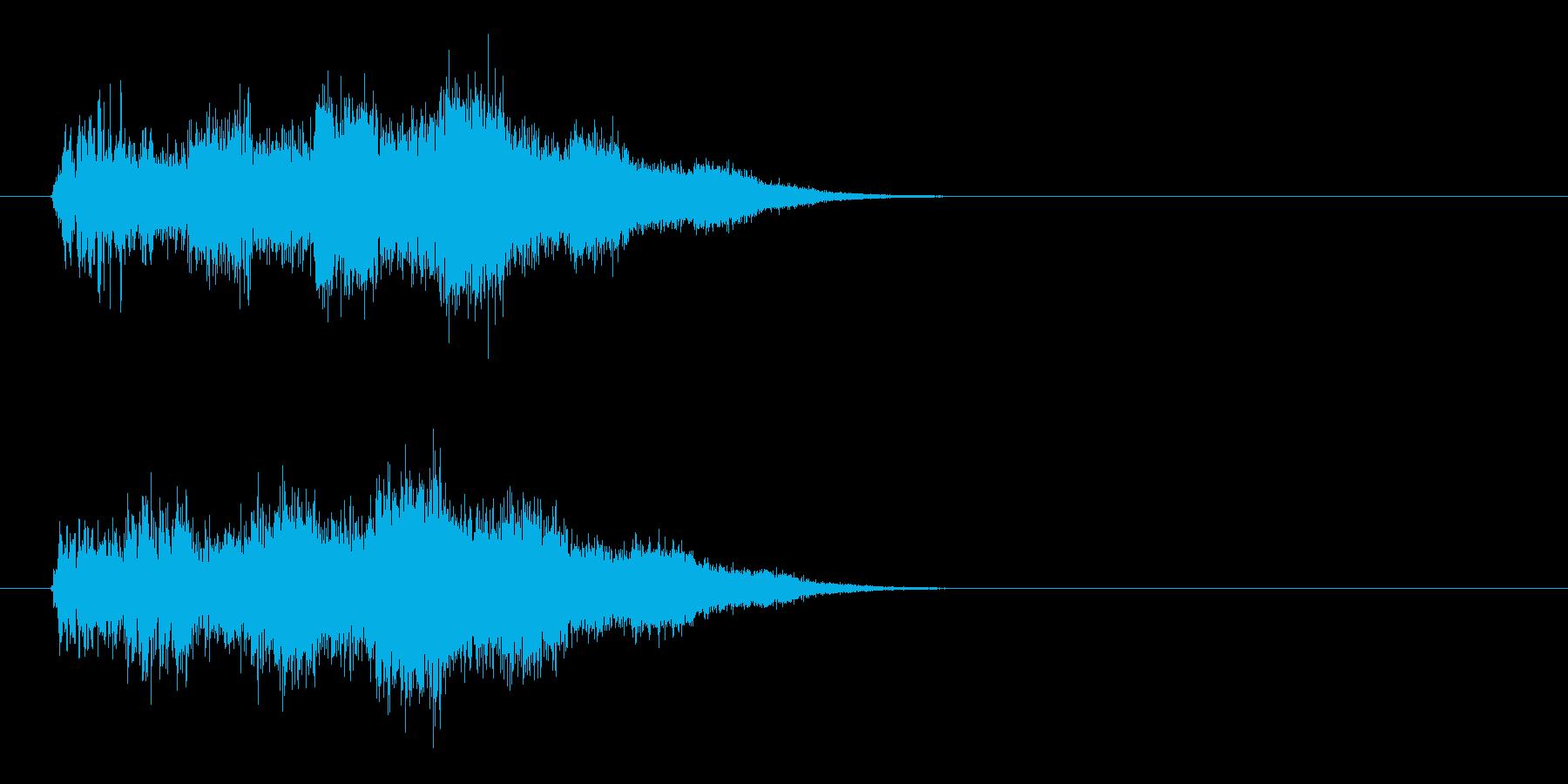 パラメーター上昇の再生済みの波形