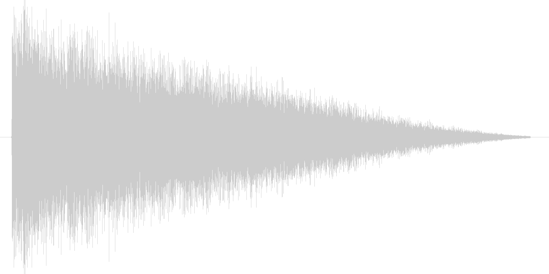 シュー。衝撃波の効果音です。の未再生の波形