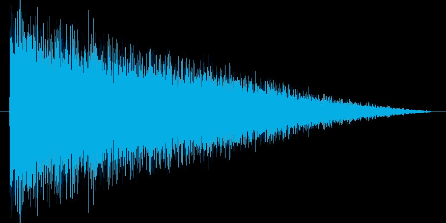シュー。衝撃波の効果音です。の再生済みの波形