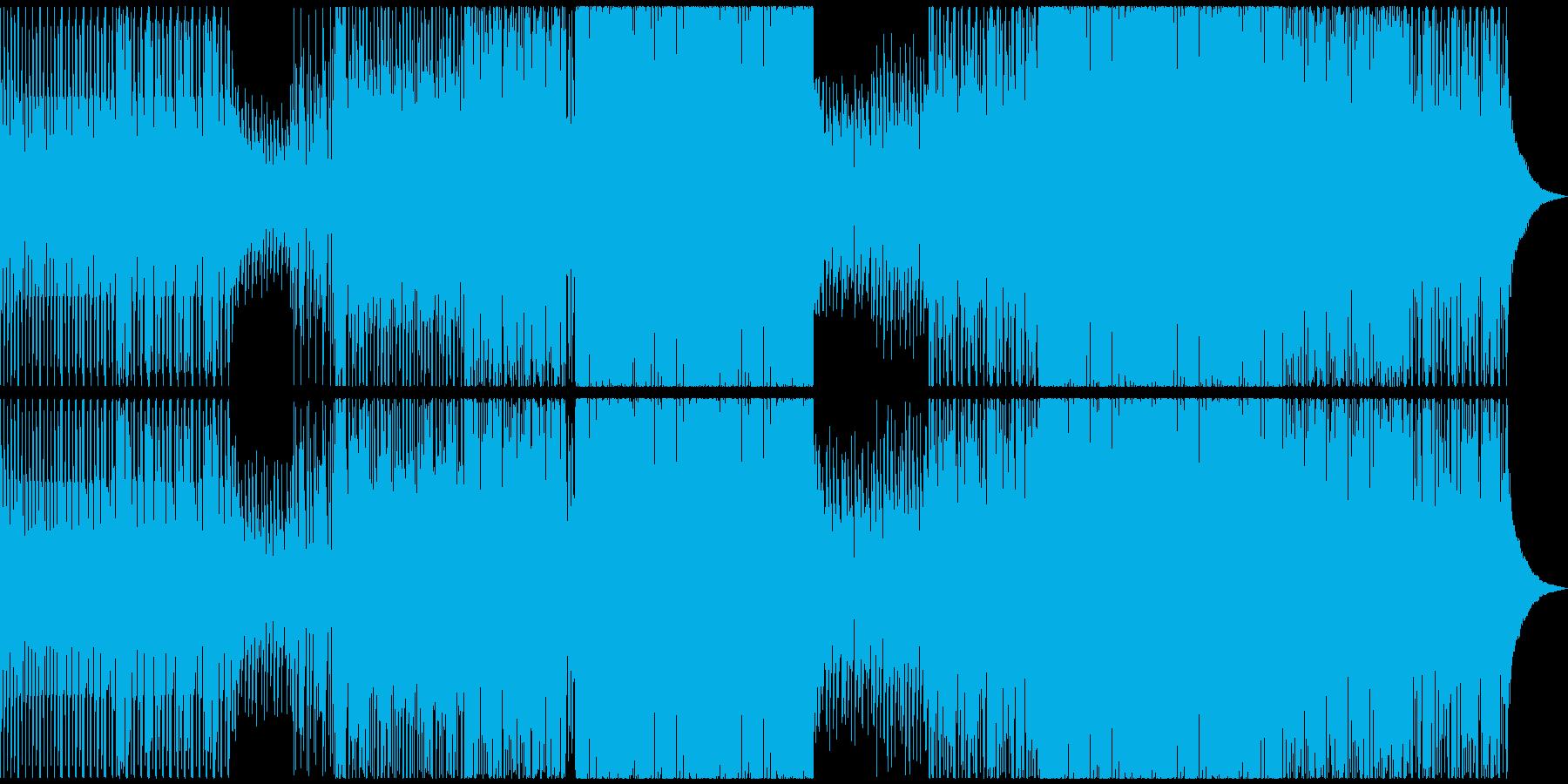 アパレルカフェ店舗風HouseBGMの再生済みの波形