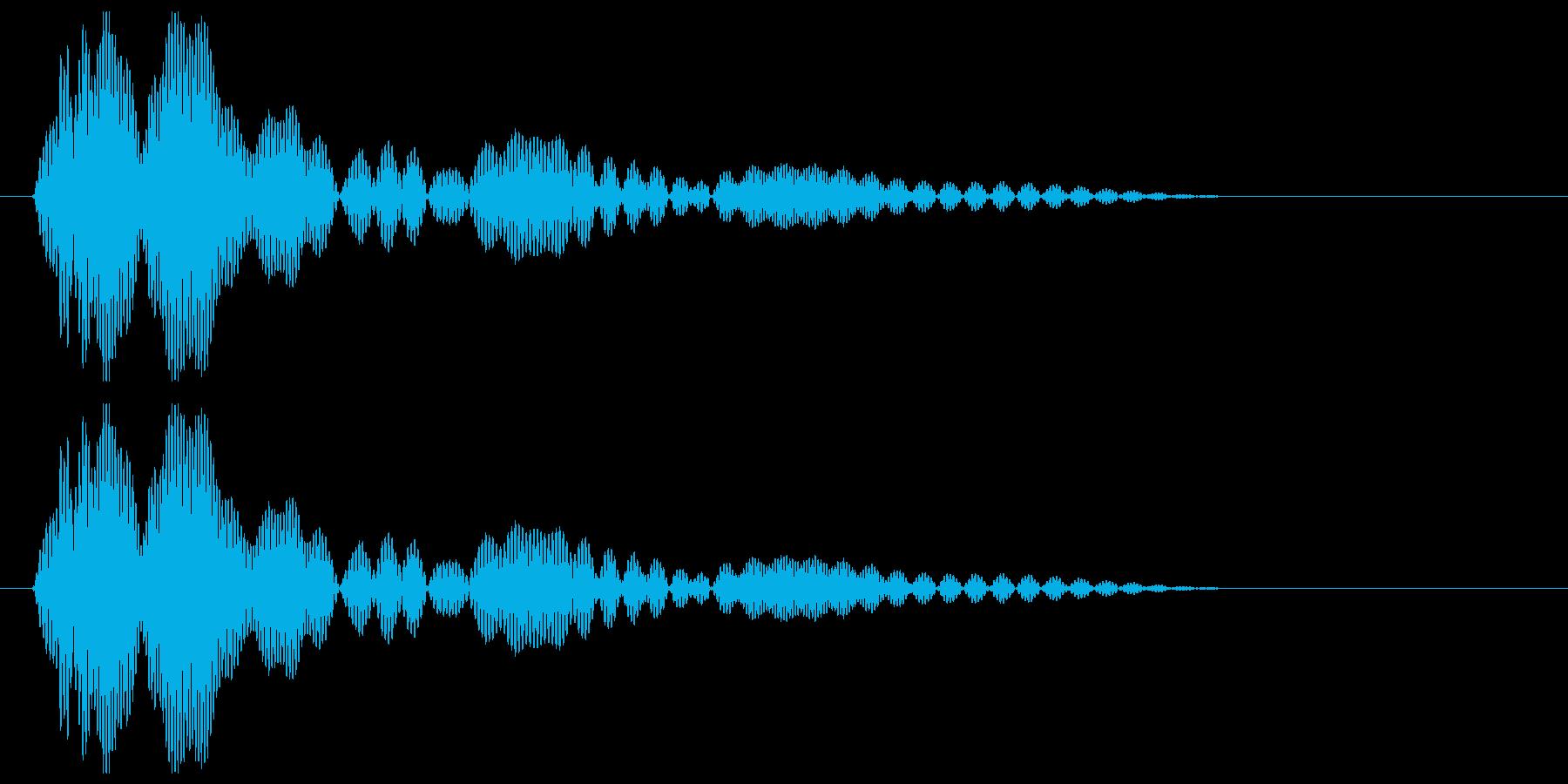 ポワーンという柔らかい効果音の再生済みの波形