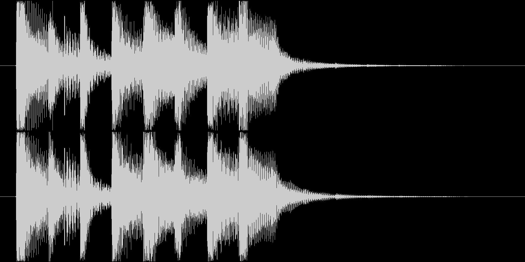 短いシンプルな明るめシンセのジングルの未再生の波形