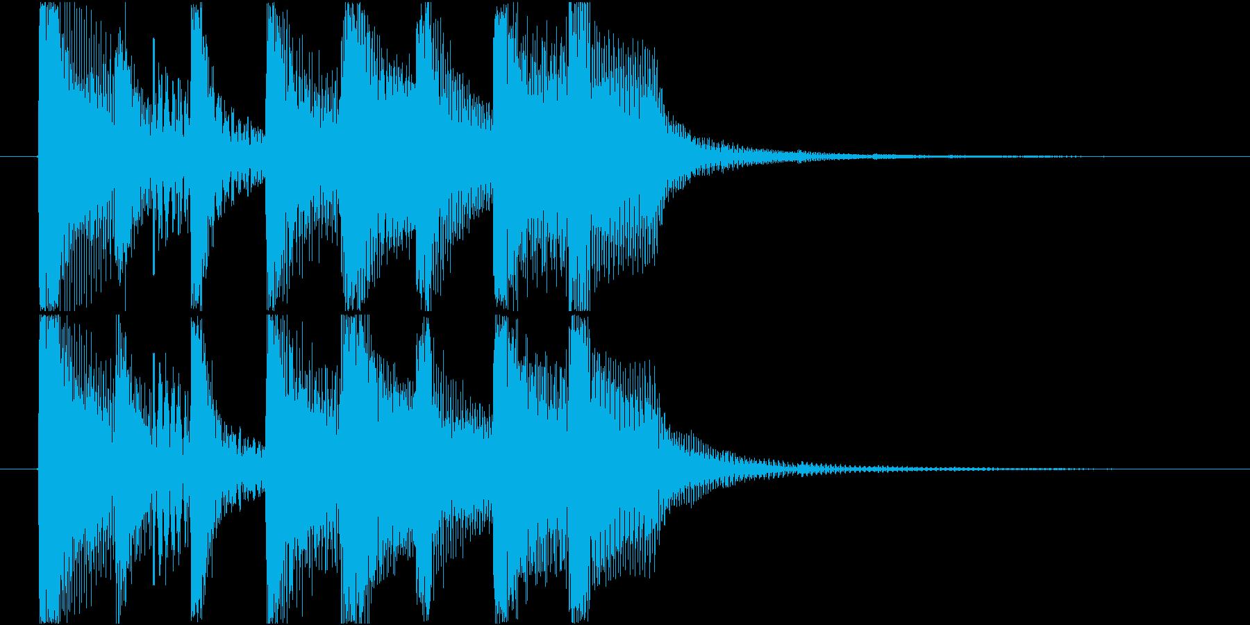 短いシンプルな明るめシンセのジングルの再生済みの波形