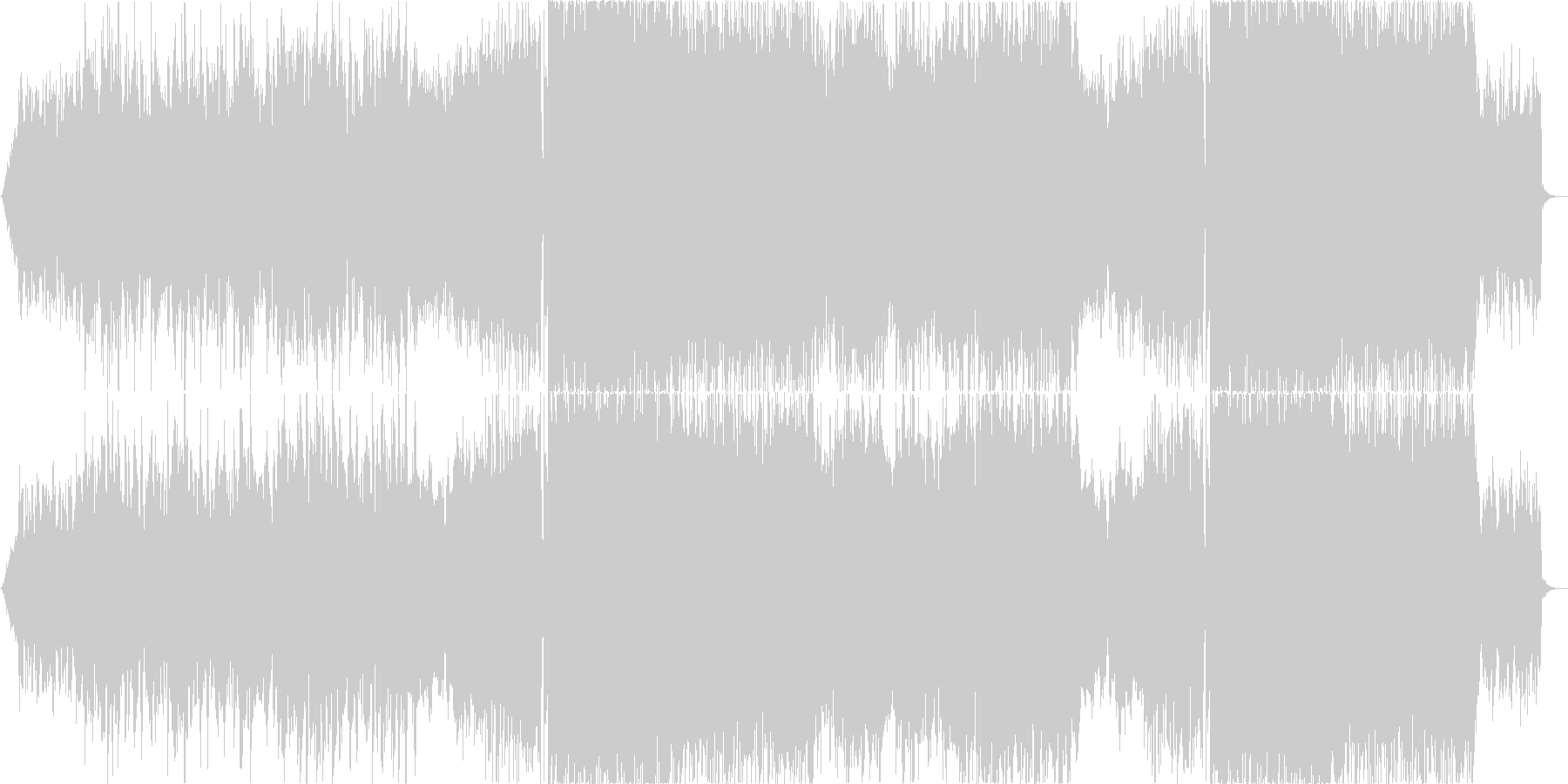 二胡が奏でるアジアンなEDM の未再生の波形