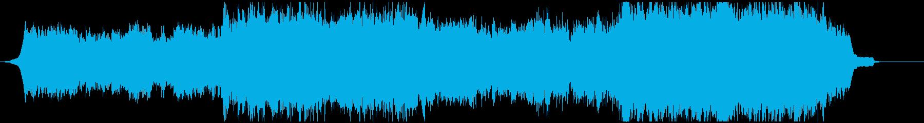 ピアノとストリングスのシネマティックな曲の再生済みの波形