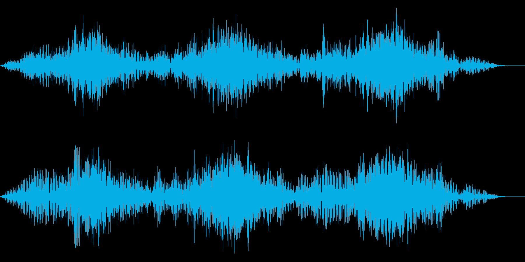 バイク オートバイの迫力あるアクセル音3の再生済みの波形