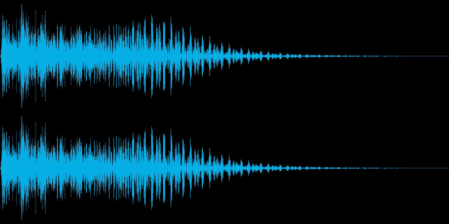 タップ、クリック、キャンセルの再生済みの波形