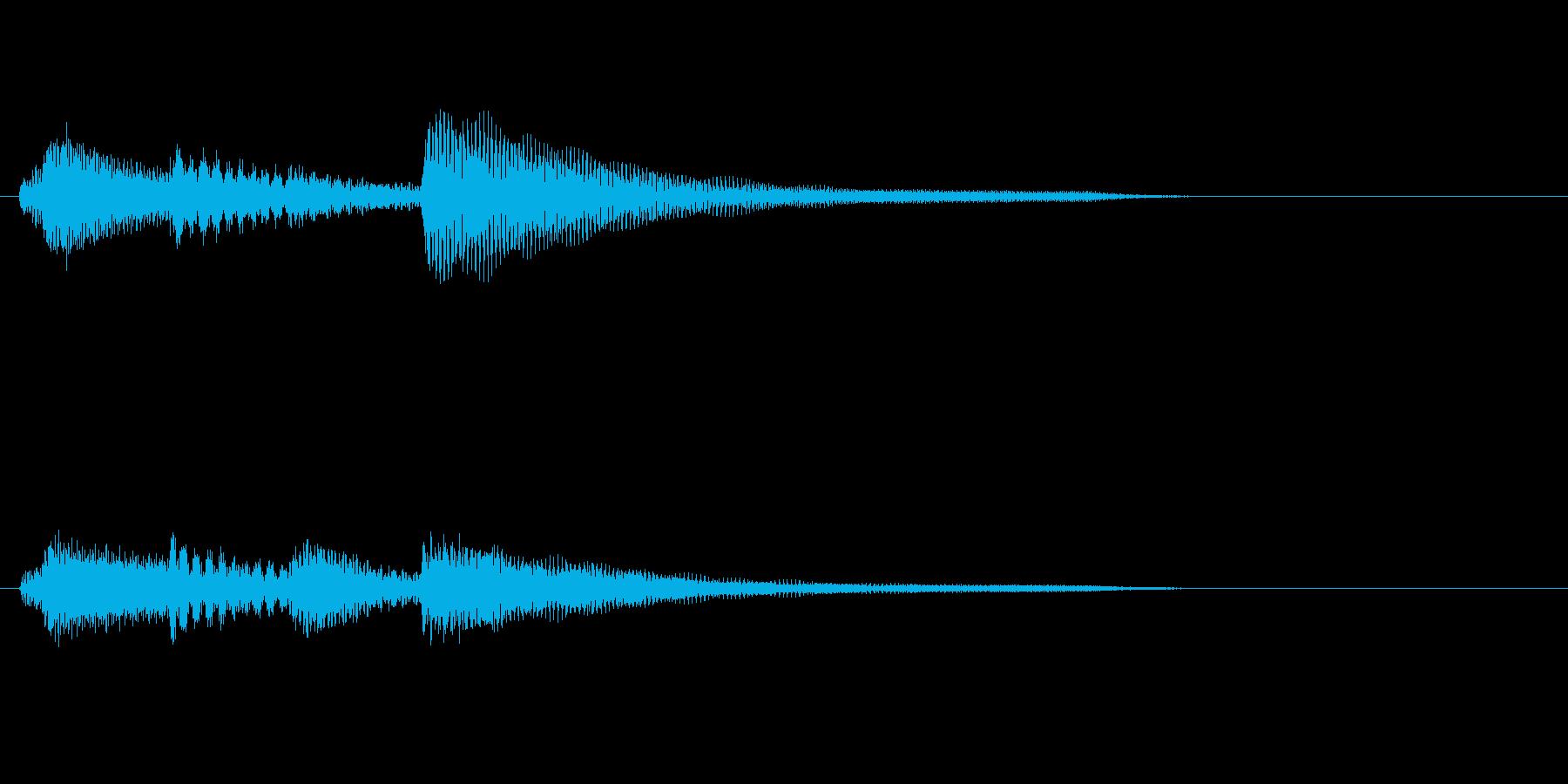 悲しげなピアノのジングルの再生済みの波形
